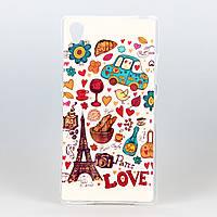 Силиконовый чехол Paris Love для Sony Xperia Z1 L39H