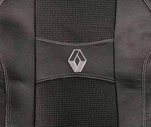 Чехлы на сиденья RENAULT CAPTUR 2013- Испания задняя спинка закрытый тыл 1/3 2/3; 5 подголовн; airbag. 'NIKA'