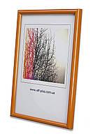 Фоторамка из пластика Оранжевый  * для грамот, дипломов, сертификатов, фото, вышивок.