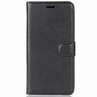 Кожаный чехол-книжка Epik с визитницей для Asus Zenfone Max Pro M2 ZB631KL Черный 686184, КОД: 1035432