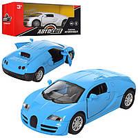 Машинка Bugatti AS-2074 АвтоСвіт, металл, инер-я, 12см, открыв.двери