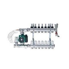 Коллектор для водяного теплого пола Eco Tehnology в сборе с насосом 7 выходов bd00098, КОД: 1024396