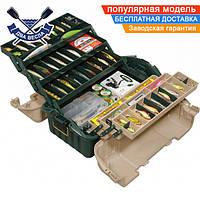 Рыбацкий ящик Plano 47,6x30,8x26 см с ручкой и 6-ю лотками для рыболовного снаряжения и приманок, пластик, США