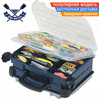 Двухсторонний рыбацкий ящик Plano 29,8х36,8х16,8 см с ручкой для рыболовного снаряжения и приманок пластик США