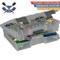 Рыбацкая двухуровневая коробка Plano 27,6х19х6,9 см для рыболовного снаряжения и приманок, пластик, США