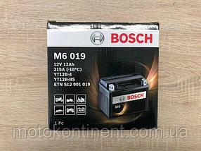 Мото аккумулятор BOSCH M6 AGM ЛЕВ [+] 12V 12AH 215A 151x70x131 Bosch 0092M60190 (YT12B-4 или YT12B-BS))