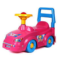 Каталка розовая, толокар для детей, возраст от 3 лет (Техн.3848)