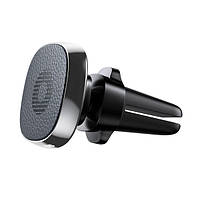 Автомобильный держатель Baseus Privity Series Air outlet Magnet leather Black IGBPSAOMLB, КОД: 351294