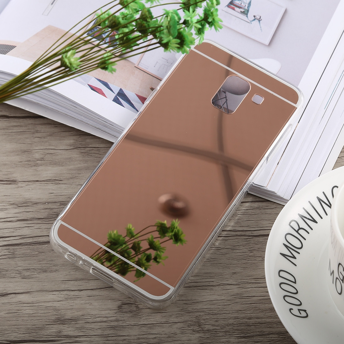 Силиконовый зеркальный чехол для Samsung Galaxy J8 2018, G537