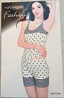 Женский комплект шорты и майка арт 7713
