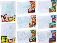 Набор для росписи по номерам Цветочное поле РХ-01-01,02,03,04...12