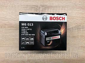 Мото аккумулятор BOSCH M6 AGM ЛЕВ [+] 12V 8AH 115A 149x70x105 Bosch 0092M60130 (YT9B-BS или YT9B-4)
