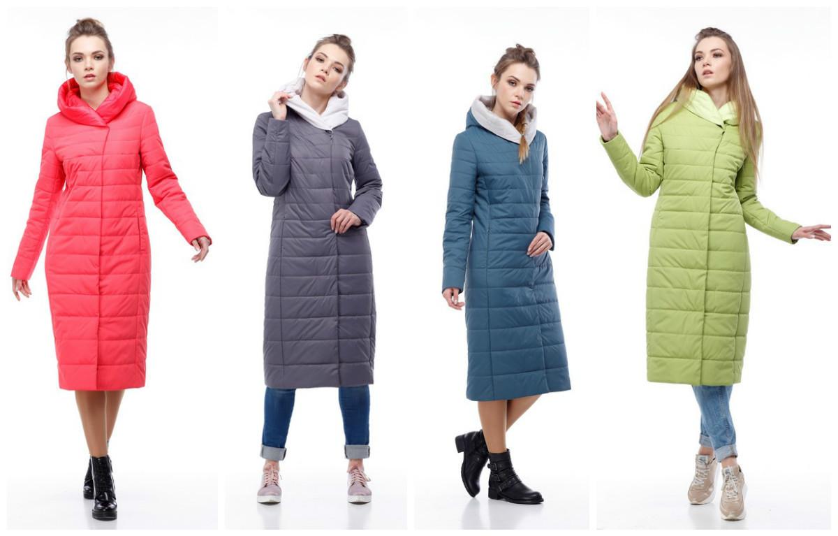 Женская удлиненная демисезонная куртка Сима, разные цвета, р 44-60