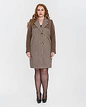 """Женское демисезонное классическое пальто """"гусиная лапка""""-М1327, фото 3"""