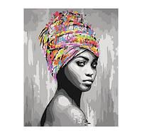 """Картина по номерам """"Африканская красота"""" 40*50 см КНО4587"""