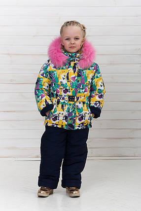 Яркий зимний комбинезон для девочек «Радуга», фото 2
