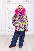 Яркий зимний комбинезон для девочек «Радуга», фото 3
