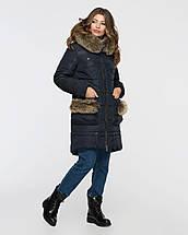Женская зимняя парка  с меховыми карманами М3064, фото 3