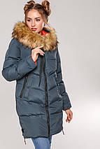 Женская зимняя стильная куртка Фабьен, эко-мех енот  44р, фото 2