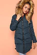 Женская зимняя стильная куртка Фабьен, эко-мех енот  44р, фото 3