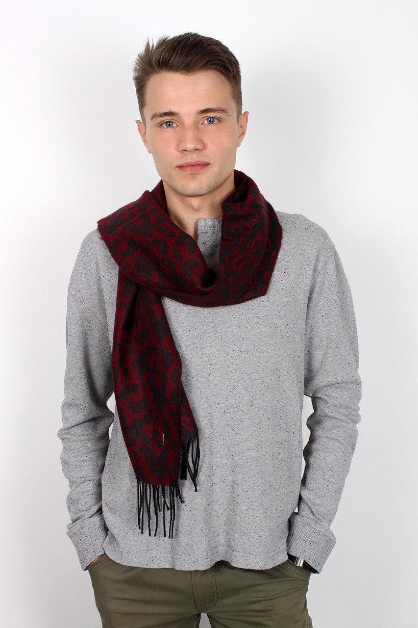 Легкий мужской осенний шарф