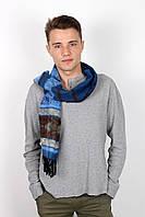 Мужской шарф в синих тонах