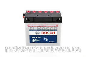 Мото аккумулятор BOSCH M4 FRESH PACK ПРАВ [+] 12V 19AH 170A 186*82*171 Bosch 0092M4F450