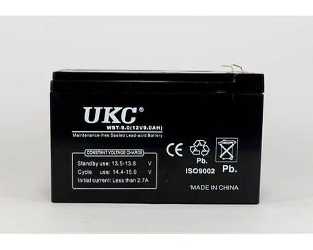 Аккумулятор  BATTERY 12V 9A UKC, герметичный гелевый аккумулятор 12В UKC, аккумуляторная батарея, фото 2