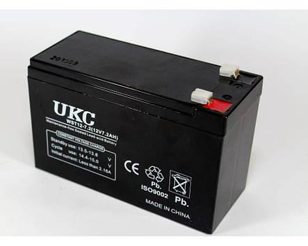 Аккумулятор BATTERY 12V 7A UKC, аккумуляторная батарея, фото 2