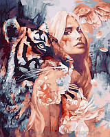 Картина по номерам 40x50 Вместе с тигром, Rainbow Art (GX26907)