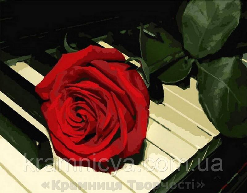 Картина по номерам 40x50 Роза на рояле, Rainbow Art (GX29840)