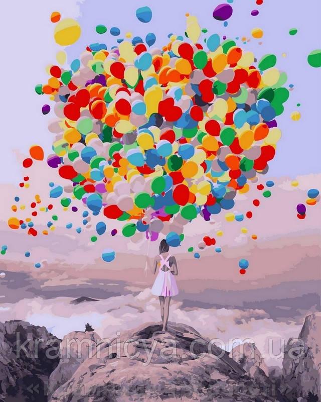 Картина по номерам 40x50 Букет воздушных шаров, Rainbow Art (GX27954)