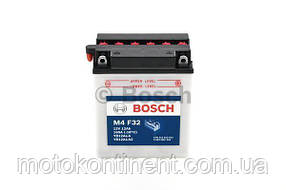 Мото аккумулятор BOSCH M4 FRESH PACK ПРАВ [+] 12V 12AH 160A 134x81x160 Bosch 0092M4F320 (YB12AL-A / YB12AL-A2)