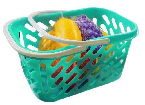 Корзинка с фруктами, 8 предметов (бирюзовая)