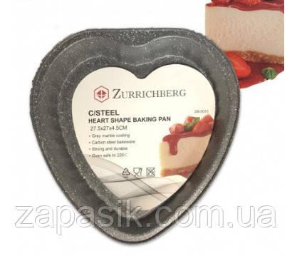 Форма Для Выпечки Zurrichberg ZBP 2033 В Форме Сердца Размер 27,5x27x4,5 См
