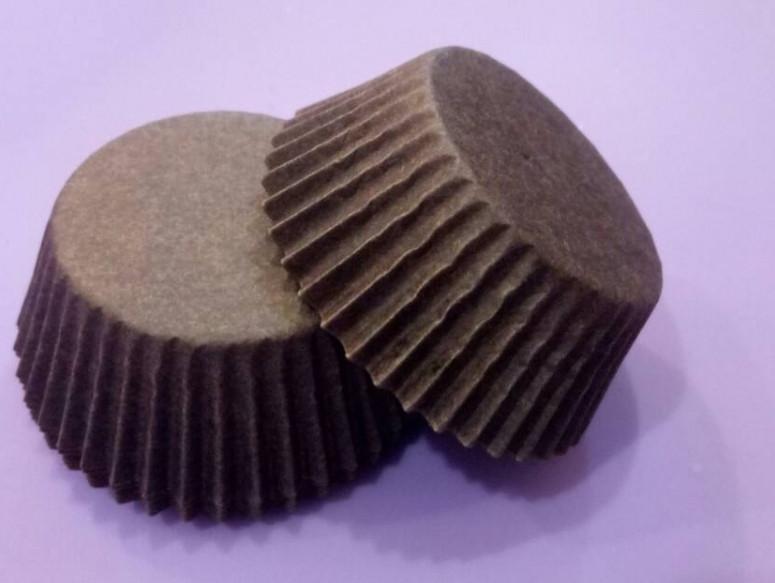 Тарталетки (капсулы) бумажные для кексов, капкейков коричневые 40*21 мм