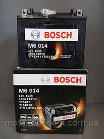 Мото аккумулятор BOSCH M6 AGM  ЛЕВ [+] 12V 10AH 150A 150x87x130 Bosch 0092M60140 (YTX12-BS / ETX12-BS)