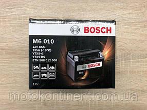 Мото аккумулятор BOSCH M6 AGM ЛЕВ [+] 12V 8AH 135A 150x87x105 Bosch 0092M60100 (YTX9-BS / ETX9-BS)