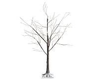 Светодиодное коричневое дерево со снегом 180 см