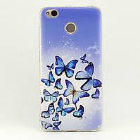 Чехол Print для Xiaomi Redmi 4X силиконовый бампер с рисунком Butterfly Blue