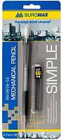Карандаш механический, 0,7мм, Buromax Simple, в ассортименте, пластик, +сменные стержни