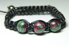 Плетеный браслет из Цоизита