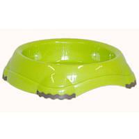 Миска для кошек Moderna СМАРТИ, пластиковая, 210 мл, d-12 см, ярко-зеленая