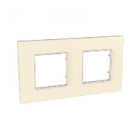 Рамка двухместная Scheider electric Unica Quadro серо-жемчужный