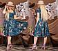 """Очаровательное нарядное платье в больших размерах 1218 """"Софт Орхидея Клёш Миди"""" в расцветках, фото 3"""