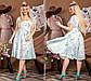 """Очаровательное нарядное платье в больших размерах 1218 """"Софт Орхидея Клёш Миди"""" в расцветках, фото 7"""