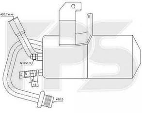 Осушитель кондиционера Форд Фиеста 02-08 / FORD FIESTA (2002-2008)