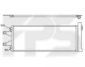 Радиатор кондиционера Пежо Боксер 06- / PEUGEOT BOXER (2006-)