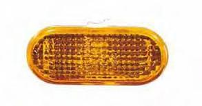 Левый (правый) указатель поворота Вольксваген Поло V 09-15 на крыле желтый рифленый без лампы w5w / VOLKSWAGEN POLO V (2009-)