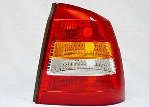 Правый задний фонарь кузов седан, красно-белый, без платы Опель Астра G / OPEL ASTRA G (1998-2010)